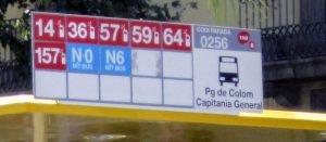 arrêt de bus barcelone